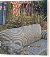 Striped Couch II Wood Print