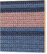 Striped Crochet Cloth Wood Print