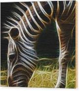 Striped Fractal Wood Print