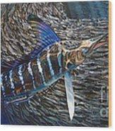 Striped Gem Wood Print by Jason Mathias