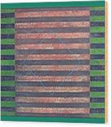 Striped Triptych No.5.03 Wood Print