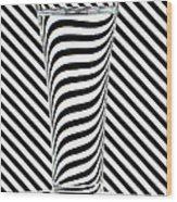 Striped Water Wood Print