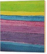 Stripes Original Painting Wood Print