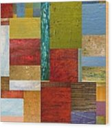 Strips And Pieces Lll Wood Print by Michelle Calkins