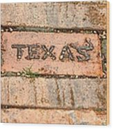 Stroll Down Texas Lane Wood Print