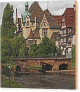 Strolling Through Strasbourg Wood Print