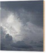 Strom Clouds Wood Print