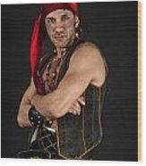 Strong Male Pirate 1 Wood Print
