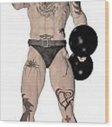 Strongest Man Fighter  Wood Print