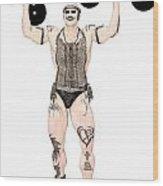 Strongest Man Native  Wood Print