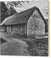 Stryd Lydan Barn Mono Wood Print