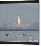 Sts-114 Discovery Launch Wood Print