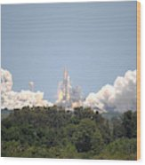 Sts-132, Space Shuttle Atlantis Launch Wood Print