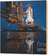 Sts 135 Atlantis Prelaunch Wood Print