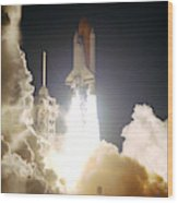 Sts-72, Space Shuttle Endeavor Launch Wood Print