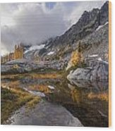 Stuart Range Soaring Fall Skies Wood Print