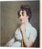Stuart's Eleanor Parke Custis Lewis Or Mrs. Lawrence Lewis Wood Print