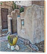 Stucco Condo In Santa Fe Wood Print