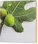 Stucked Together On Leaf Wood Print