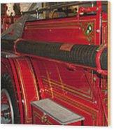 Studebaker Fire Truck Wood Print