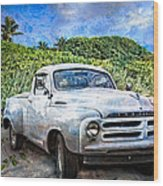 Studebaker Goes To The Beach Wood Print