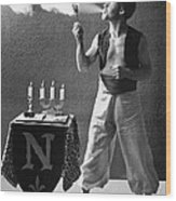 Student Works As Fire-eater Wood Print
