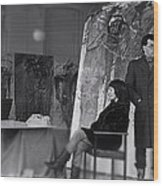 Studio Visit 1983 Wood Print