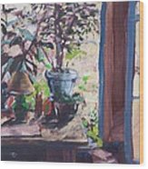 Studio Window Wood Print