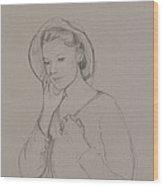 Study For Elizabeth Bennet Wood Print
