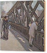 Study For Le Pont De L Europe Wood Print