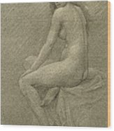 Study For Lilith Wood Print by Robert Fowler