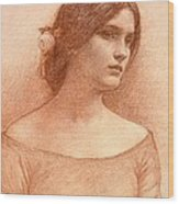 Study For The Lady Clare Wood Print
