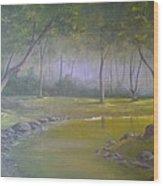 Study In Green Wood Print by Darren Boysha