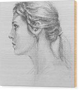 Study In Profile Wood Print