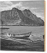 Study- Kaneohe Bay Early Morn 1 Wood Print