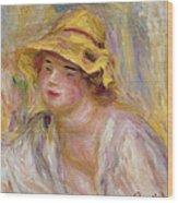 Study Of A Girl, C.1918-19 Wood Print