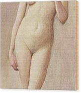 Study Of A Nude II Wood Print