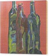 Study of Bottles Wood Print