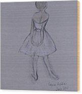 Study Of Degas Ballet Dancer Wood Print