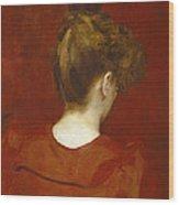 Study Of Lilia Wood Print