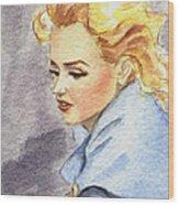study of Marilyn Monroe Wood Print