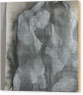 Study Of Models Wood Print by Marilyn Greenway