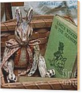 Stuffed Rabbit And Uncle Wiggly Book Wood Print by Amy Cicconi
