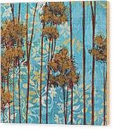 Stunning Abstract Landscape Elegant Trees Floating Dreams II By Megan Duncanson Wood Print