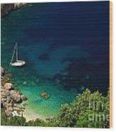 Stunning Beach Kefalonia Wood Print