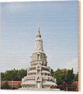 Stupa At The Silver Pagoda, Cambodia Wood Print