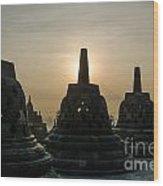 Stupah At Borobudur Wood Print