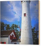 Sturgeon Point Lighthouse Michigan Wood Print