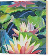 Styalized Lily Pads 3 Wood Print
