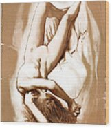 Stylised Nude Girl Drawing Art Sketch Wood Print